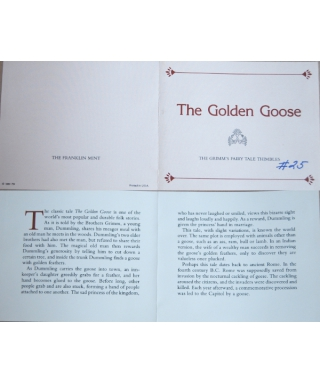 The Golden Goose - certificate