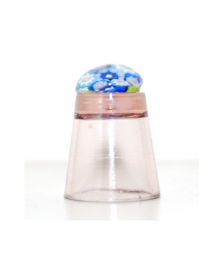 Heather glass millefiori thimble