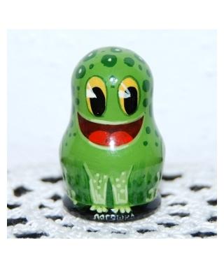 Drewniana żaba
