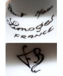 Peint Main Limoges FRANCE FB