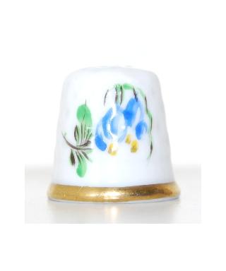 Niebieski i fioletowy kwiat Herend