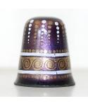 Enameled violet and gold