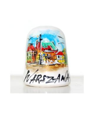 Stare Miasto w Warszawie ręcznie malowany