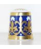 Minton granatowy ze złotym wzorem