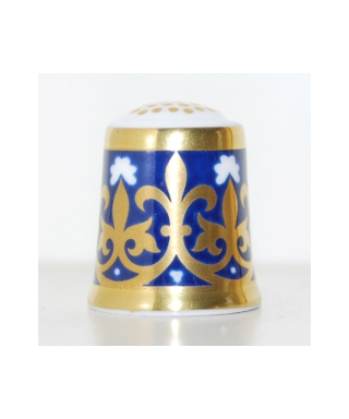 Minton navy-blue with golden pattern