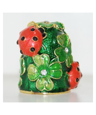 Ladybugs and clover