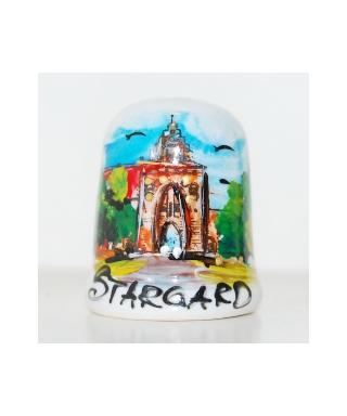 Brama Pyrzycka w Stargardzie ręcznie malowany