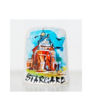 Brama Wałowa w Stargardzie ręcznie malowany