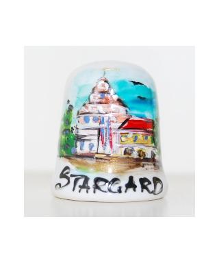 Ratusz w Stargardzie ręcznie malowany