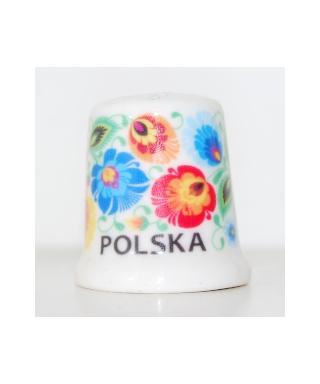 Folk thimble - Łowicz pattern