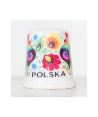 Folk naparstek - łowickie koguty