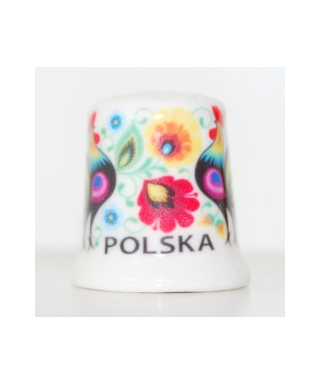 Folk thimble - Łowicz roosters
