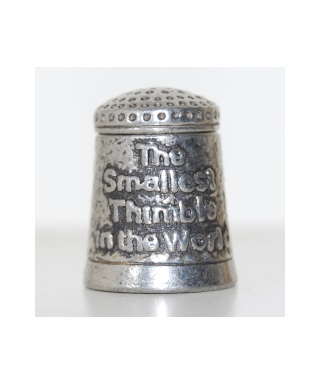 The smallest thimble in the world