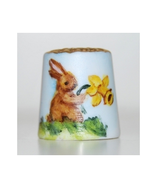 Bunny and daffodil