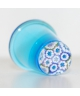 Blue glass millefiori thimble