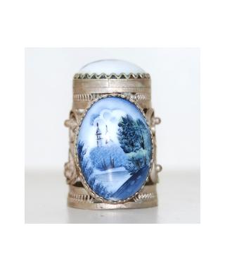 Emalia Rostowska biało-niebieski
