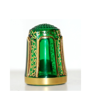 Green with ornament