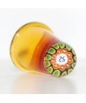 Bursztynowy szklany naparstek millefiori 25