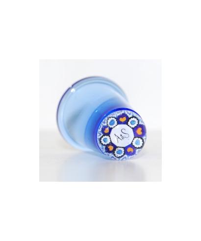 Niebieski szklany naparstek millefiori - Królewski Ślub