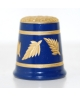 Navy-blue with golden leaves