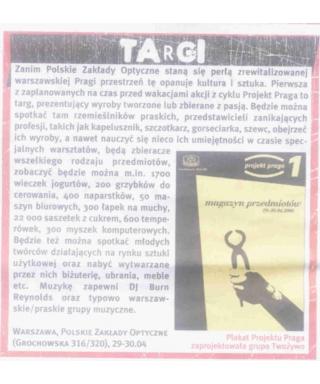 Projekt Praga - pierwsza odsłona
