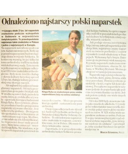 Odnaleziono najstarszy polski naparstek